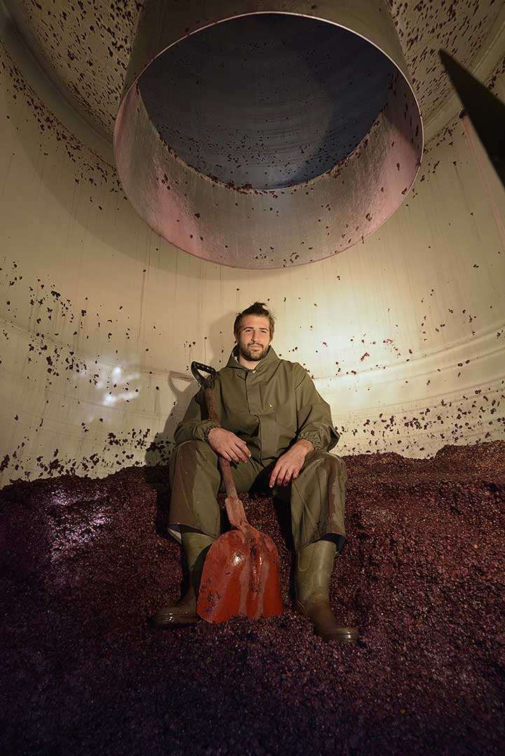décuvage, vendanges, vin biodynamie, photo Emmanuel Perrin
