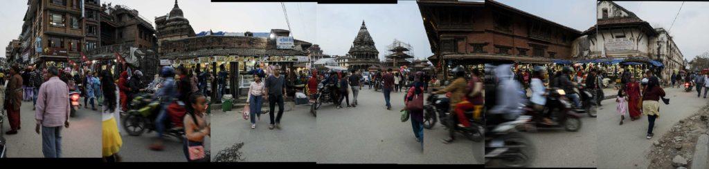 Népal, Patan, scène de rue, carrefour, photo Emmanuel Perrin