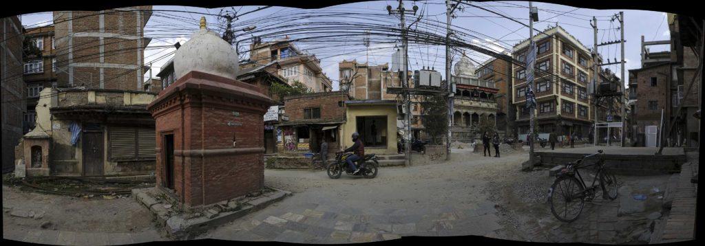 Népal, Patan, panoramique, scène de rue, photo Emmanuel Perrin